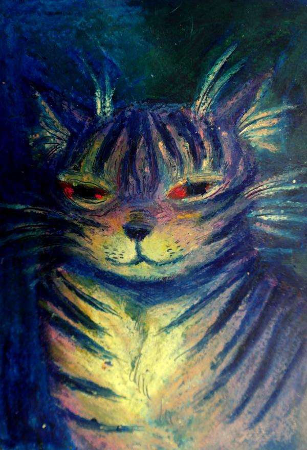 Vahavärityö maireasta kissasta.